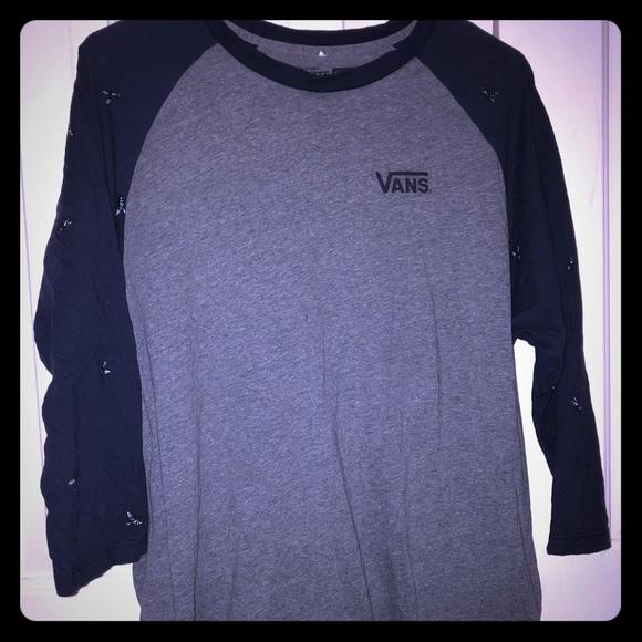 b63b55d8ee Vans Long Sleeve T-Shirt Custom Flies (VERY RARE)